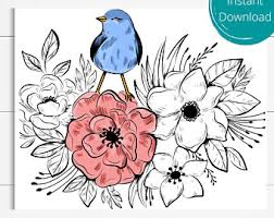Can you name them all? Bird Coloring Page Etsy