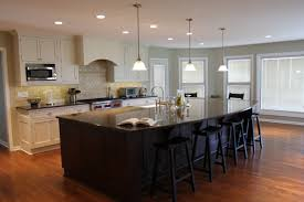 Kitchen Island Design Ideas blue wooden kitchen island with shelves and white counter top with as wells as large kitchen