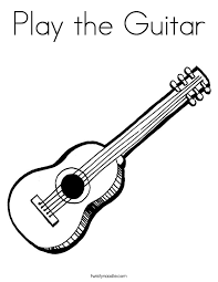 Small Picture Play the Guitar Coloring Page Twisty Noodle