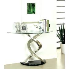 terrific round entry table round entry hall table glass top entry table half circle beautiful console