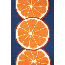 Small Picture Home Decorators Collection Citrus Nautical Blue 7 ft 6 in x 9 ft