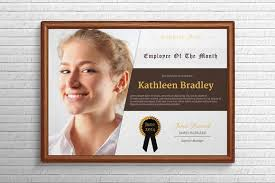 Free Employee Of The Month Certificate Template Delectable Employee Of The Month Certificate Stationery Templates Creative