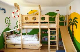 Enchanting Bunk Bed With Slide And Desk Bunk Bed With Desk And Slide Boys Slide  Bed In Chestnut With Blue