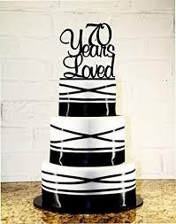 Amazoncom 70th Birthday Cake Topper 70 Years Loved Custom Handmade