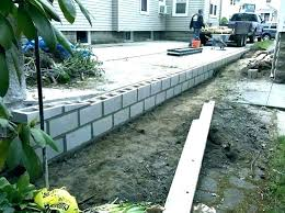 interior retaining wall cost estimate concrete block costs image of building a cinder uk