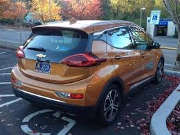 2018 chevrolet bolt ev. perfect bolt chevy bolt ev parked on 2018 chevrolet bolt ev