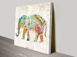 danhuhi nai boho paisley elephant ii wall art print