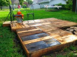 outdoor pallet wood. Make Your Own Outdoor Pallet Deck! By Minettes Maze Featured On Http:// Wood E