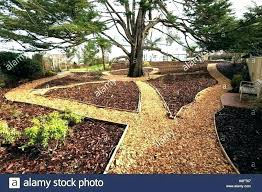 wooden garden path monumental wood with grass growing up between the stock photo making a designs