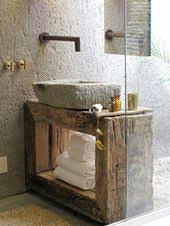 design beautiful looks like old wood and the faucet in the wall is interesting artistic wood pieces design