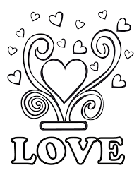 love wedding coloring pages