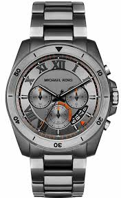 men s michael kors brecken grey chronograph watch mk8465