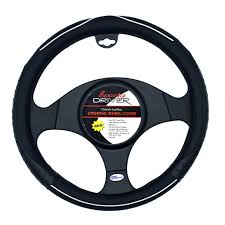 14135 1 jpg 14135 luxury driver steering wheel cover ostrich leather black