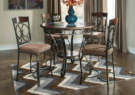 glambrey round counter height table w 4 barstools brooklyn furniture
