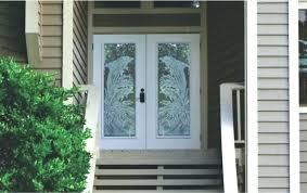 front door glass repair exterior