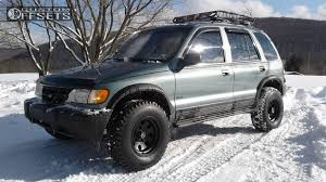 kia sportage 2000 black. Beautiful Sportage 1 2000 Sportage Kia Suspension Lift 4 American Racing Baja Matte Black  Aggressive Outside Fender  To K