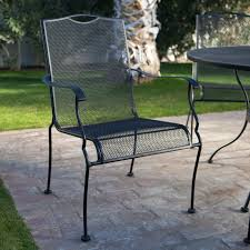 collection in wrought iron patio dining set woodard stanton 48 in round wrought iron patio dining table backyard design photos