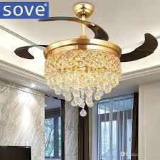 retractable ceiling fan modern luxury folding ceiling fan crystal led lamp retractable ceiling fans with lights