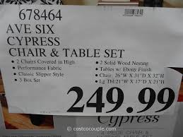 ave six ave six furniture ave six cypress chair and table set