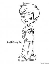 Small Picture Printable Strawberry Shortcake Huckleberry Pie coloring pages