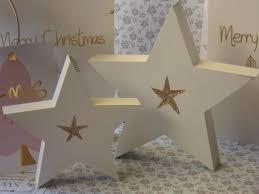 Mea Living Weihnachtsstern Holzstern Weiß Xmas Deko