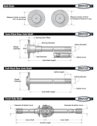 Spline Dimensions Chart Axle Shaft Length Bolt Circle Measurement Sierra Gear