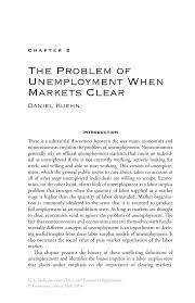 the problem of unemployment when markets clear springer inside