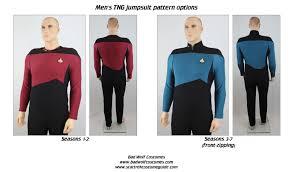 star trek tng men s jumpsuit sewing pattern