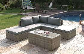 Outdoor sectional Modular Lizkona Outdoor Patio 6pcs Tan Sectional Sofa Set By Poundex Tan Outdoor Furniture Efurniture House Lizkona Outdoor Patio 6pcs Sectional Sofa Set By Poundex