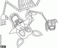 Fnaf Coloring Pages Mangle Print Golden Freddy Face