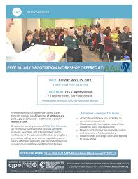 salary negotiation workshop offered by aauw worksmart in aauw 252017