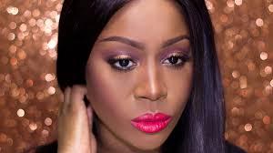 copper smokey eyes red lips dark skin spring makeup tutorial 2016 graceonyourdash you