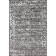unique loom sofia dark gray 4 x 6 rug