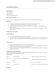 Resume Format For Social Worker Social Work Resumes Social Worker