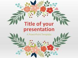 Ppt Flowers Floral Spring Powerpoint Template Presentationgo Com