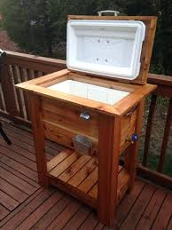 outdoor bar with cooler beautiful cedar wood ice cooler great deck patio box or tailgating cooler outdoor bar with cooler