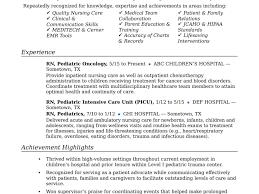Resume For Rn Nurse Staruptalent Com