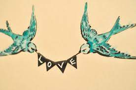 all you need is love swallow wall art