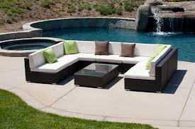 Outdoor Sofa Clearance And Outdoor Living Piece Black Resin Wicker Outdoor Furniture Sectional Clearance
