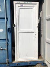 brand new white upvc le door in upvc frame 830 x 2060 mm 439