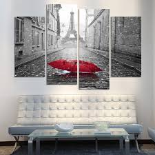 printed modular frame picture large canvas painting for bedroom 4 panel eiffel tower living room home