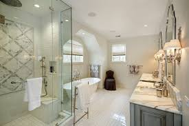 inspiration for a timeless master white tile and ceramic tile ceramic floor bathroom remodel in chicago
