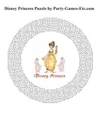 free printable disney princess party game and pen and paper activity