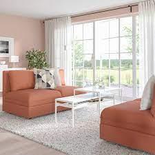 Vallentuna 2 Seat Modular Sofa With Storage Kelinge Rust Ikea