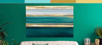 gold teal canvas wall art icanvas