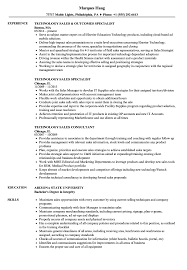 Technical Sales Resume Examples Technology Sales Resume Samples Velvet Jobs