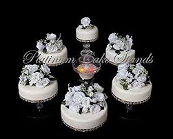 Amazoncom 6 Tier Clear Wedding Cascade Cupcake Cake Stand Style
