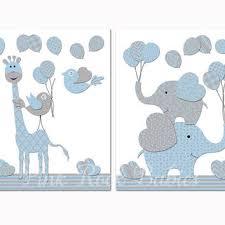 baby boy nursery decoration nursery blue elephant giraffe wall d