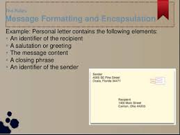 Message Formatting And Encapsulation Networking For