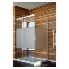 slik slik flow 4834 48 flow corner shower door frosted glass chrome